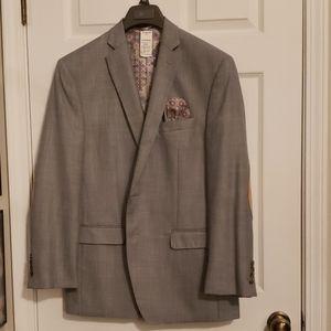 Dark Gray small checkered patterned Blazer